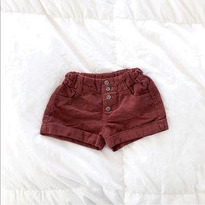 Zara Baby Girl Corduroy Shorts